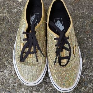 NWOT  never worn sparkle vans
